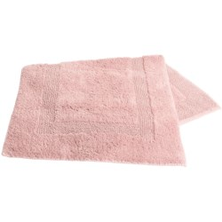 Graccioza Superior Cotton Classic Bath Rug - Large, Reversible in Porcelain Pink