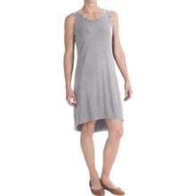Grace Dresses Grommet Trim Dress - Sleeveless (For Women) in Mist Grey Heather - Closeouts