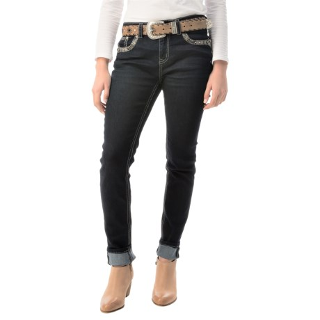 Grace in La Aztec Skinny Jeans Stretch Denim (For Women)