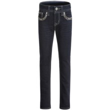 Grace in LA Caitlin Skinny Jeans (For Big Girls) in Medium Blue - Closeouts
