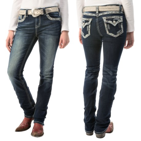 Grace in LA Emilia Jeans Bootcut, Stretch Denim (For Women)