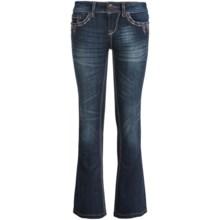 Grace in LA Kimi Jeans - Bootcut (For Big Girls) in Dark Blue - Closeouts