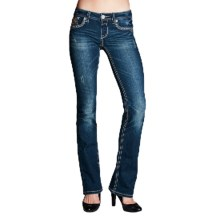 Grace in LA Monarchy Jeans - Fitted, Bootcut (For Women) in Dark Blue - Closeouts