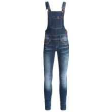 Grace in LA Overalls - Skinny Leg (For Big Girls) in Medium Blue - Closeouts