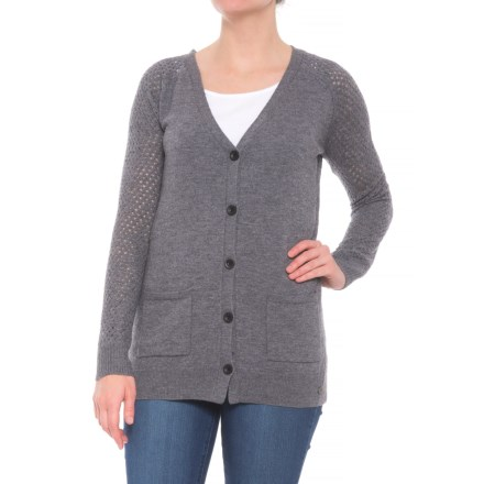 0585015b58 Grace Project Cashmere Blend Cardigan Sweater (For Women) in Sleet -  Closeouts