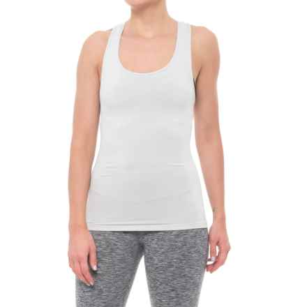 Grace Project Seamless Jacquard Racerback Tank Top (For Women) in Light Heather - Closeouts