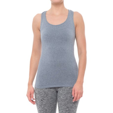 Grace Project Seamless Jacquard Racerback Tank Top (For Women) in Navy