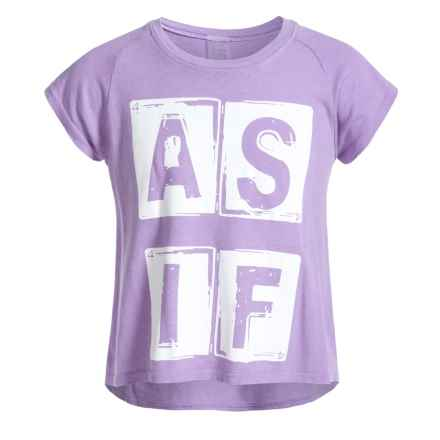 Gracie by Soybu Graphic Relaxed T-Shirt - Short Sleeve (For Little and Big Girls) in Blossom - Closeouts