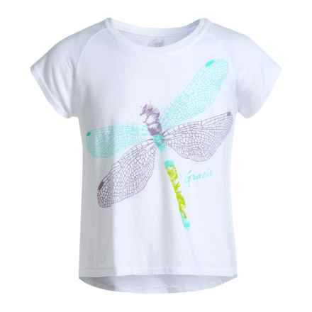 Gracie by Soybu Graphic Relaxed T-Shirt - Short Sleeve (For Little and Big Girls) in White - Closeouts