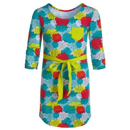 Gracie by Soybu Joanie Dress - Scoop Neck, 3/4 Sleeve (For Little and Big Girls) in Autumn Garden - Closeouts
