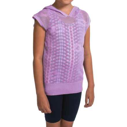 Gracie by Soybu Lindsey Hoodie Shirt - Sleeveless (For Little and Big Girls) in Blossom - Closeouts