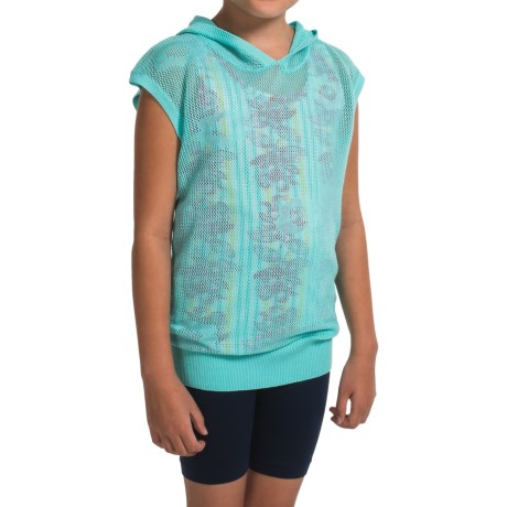 Gracie by Soybu Lindsey Hoodie Shirt - Sleeveless (For Little and Big Girls) in Blue Fairy