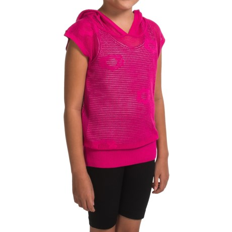 Gracie by Soybu Lindsey Hoodie Shirt - Sleeveless (For Little and Big Girls) in Rouge