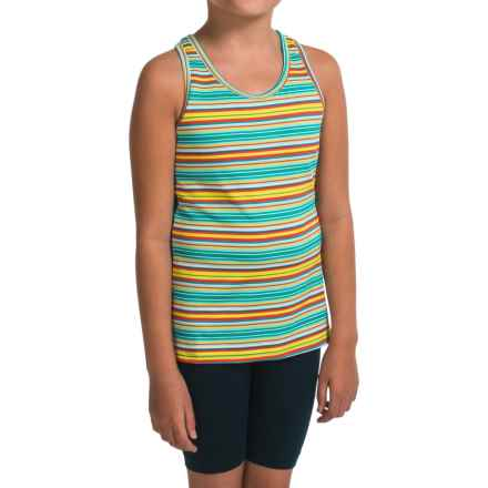 Gracie by Soybu Macy Tank Top - Built-In Shelf Bra, Racerback (For Little and Big Girls) in Autumn Stripe - Closeouts