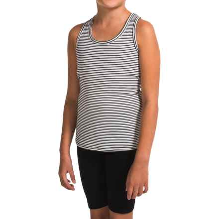 Gracie by Soybu Macy Tank Top - Built-In Shelf Bra, Racerback (For Little and Big Girls) in Optic Stripe - Closeouts