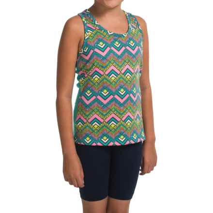 Gracie by Soybu Macy Tank Top - Built-In Shelf Bra, Racerback (For Little and Big Girls) in Rainbow Dots - Closeouts