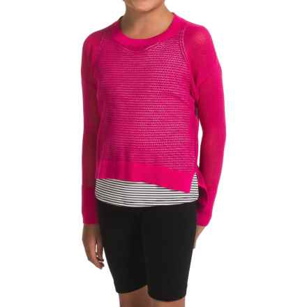 Gracie by Soybu Wynn Sweater (For Little and Big Girls) in Rouge - Closeouts