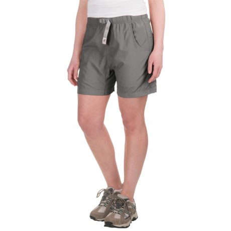Gramicci's Quick Dry 2 G Shorts - UPF 30 (For Women) in Light Grey