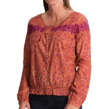 Gramicci Adonia Batik Shirt - Long Sleeve (For Women) in Raspberry - Closeouts