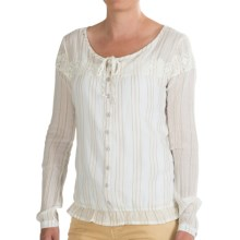 Gramicci Adonia Peasant Top - Long Sleeve (For Women) in Cream - Closeouts