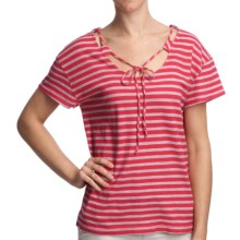 Gramicci Alpinia Shirt - Dafina Stripe, Short Sleeve (For Women) in Rose Red - Closeouts