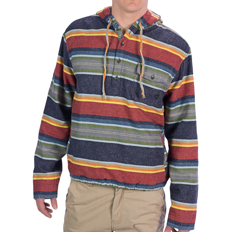 Gramicci apache pullover shirt button neck long sleeve for Mens long sleeve pullover shirts