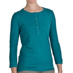 Gramicci Ashley Henley Shirt - UPF 50, 3/4 Sleeve (For Women) in Biscay Bay
