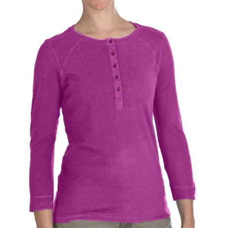 Gramicci Ashley Henley Shirt - UPF 50, 3/4 Sleeve (For Women) in Wild Aster