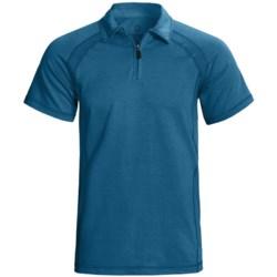 Gramicci Austin High-Performance Polo Shirt - UPF 20, Zip Neck, Short Sleeve (For Men) in Indigo Blue