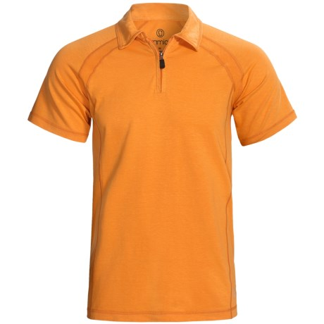 Gramicci Austin High-Performance Polo Shirt - UPF 30, Zip Neck, Short Sleeve (For Men) in Solar Orange