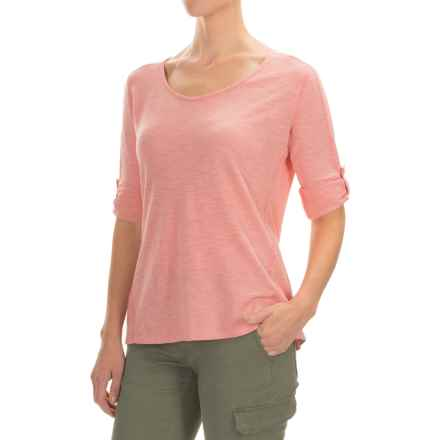 Gramicci Begonia Shirt - UPF 20+, Hemp-Organic Cotton, Long Sleeve (For Women) in Strawberry Ice - Closeouts
