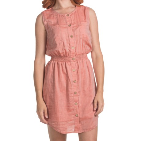 Gramicci Bloom Chambray Dress - Organic Cotton, Sleeveless (For Women) in Red Rose