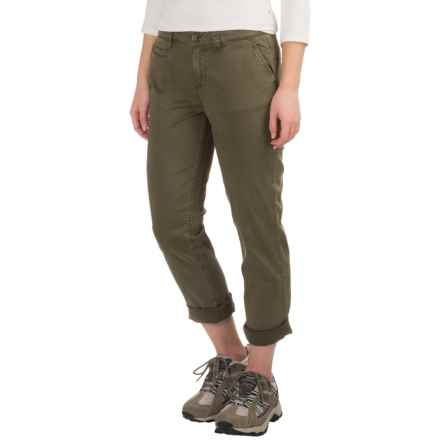Gramicci Boyfriend Chino Pants (For Women) in Olive Stone - Closeouts