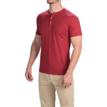 Gramicci Brody Henley Shirt - Hemp-Organic Cotton, Slim Fit, Short Sleeve (For Men) in Red Sun - Closeouts