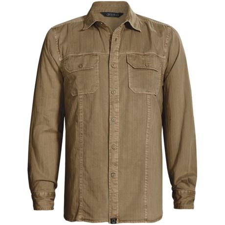Gramicci Bryson Herringbone Shirt - Long Sleeve (For Men) in Antelope