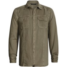 Gramicci Bryson Herringbone Shirt - Long Sleeve (For Men) in Fatigue Green - Closeouts