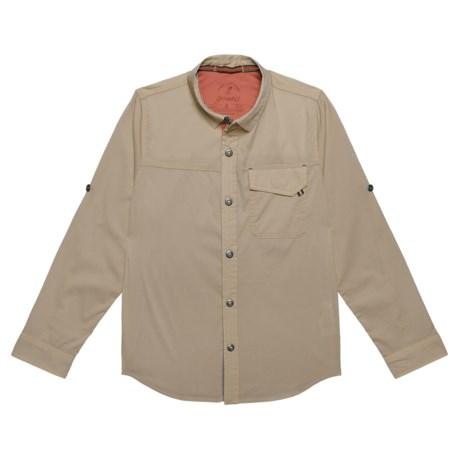 Gramicci Buggin Shirt - UPF 40+, Long Sleeve (For Boys) in Khaki