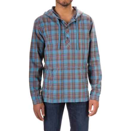 Gramicci Burner Flannel Hoodie (For Men) in Coastal Blue - Closeouts