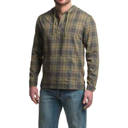 Gramicci Burner Flannel Hoodie (For Men) in Olive Stone - Closeouts