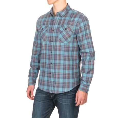 Gramicci Burner Flannel Shirt - Long Sleeve (For Men) in Coastal Blue