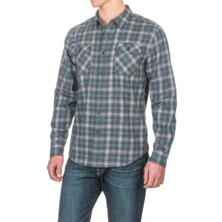 Gramicci Burner Flannel Shirt - Long Sleeve (For Men) in Fog Grey - Closeouts