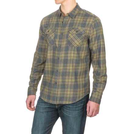 Gramicci Burner Flannel Shirt - Long Sleeve (For Men) in Olive Stone - Closeouts