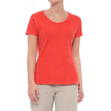 Gramicci Cafe T-Shirt - Scoop Neck, Short Sleeve (For Women) in Cayenne - Closeouts