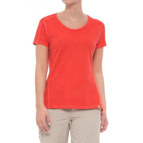 Gramicci Cafe T-Shirt - Scoop Neck, Short Sleeve (For Women) in Cayenne