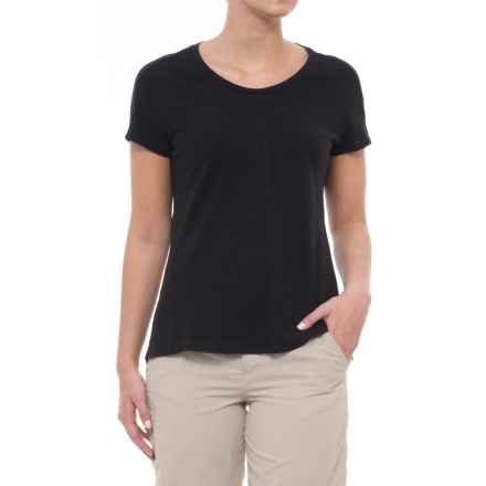 Gramicci Cafe T-Shirt - Scoop Neck, Short Sleeve (For Women) in Ebony - Closeouts