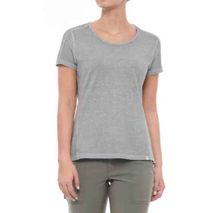 Gramicci Cafe T-Shirt - Scoop Neck, Short Sleeve (For Women) in Fog Grey - Closeouts