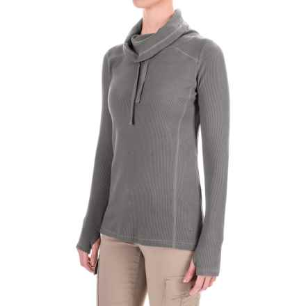 Gramicci Celestina Thermal Turtleneck - Long Sleeve (For Women) in Charcoal Grey - Closeouts