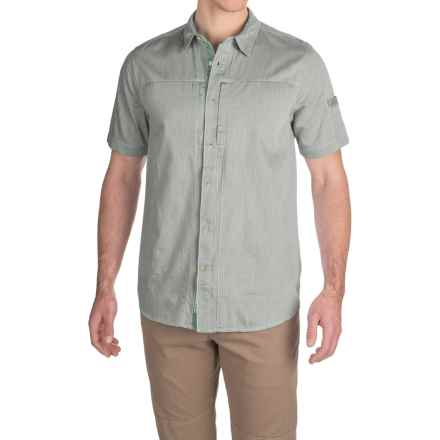 Gramicci Chambray Oxford Shirt - Short Sleeve (For Men) in Olive - Closeouts
