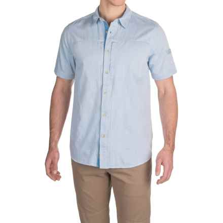 Gramicci Chambray Oxford Shirt - Short Sleeve (For Men) in Sky - Closeouts