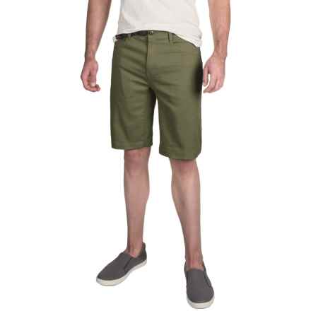 """Gramicci City Cotton Twill 11"""" Shorts - UPF 50, Flat Front (For Men) in Olive - Closeouts"""